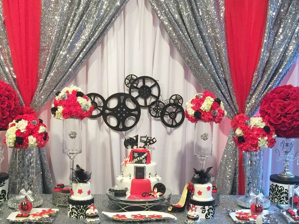 hollywood themed quinceanera