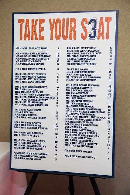 Sports Seating Chart