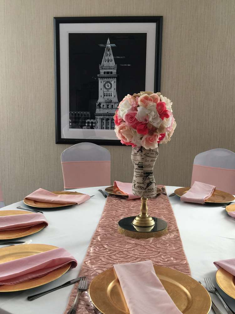 French Theme Centerpieces