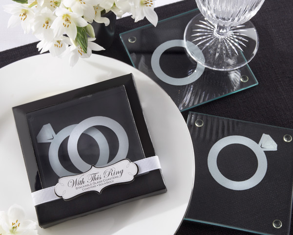 wedding engagement ring favors