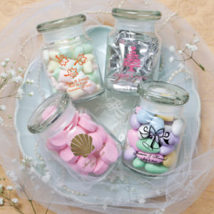 practical favors high heel keychains personalized candy jars