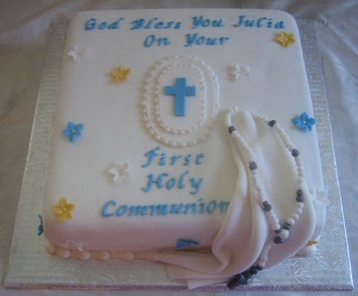 First Communion Cross Cakes