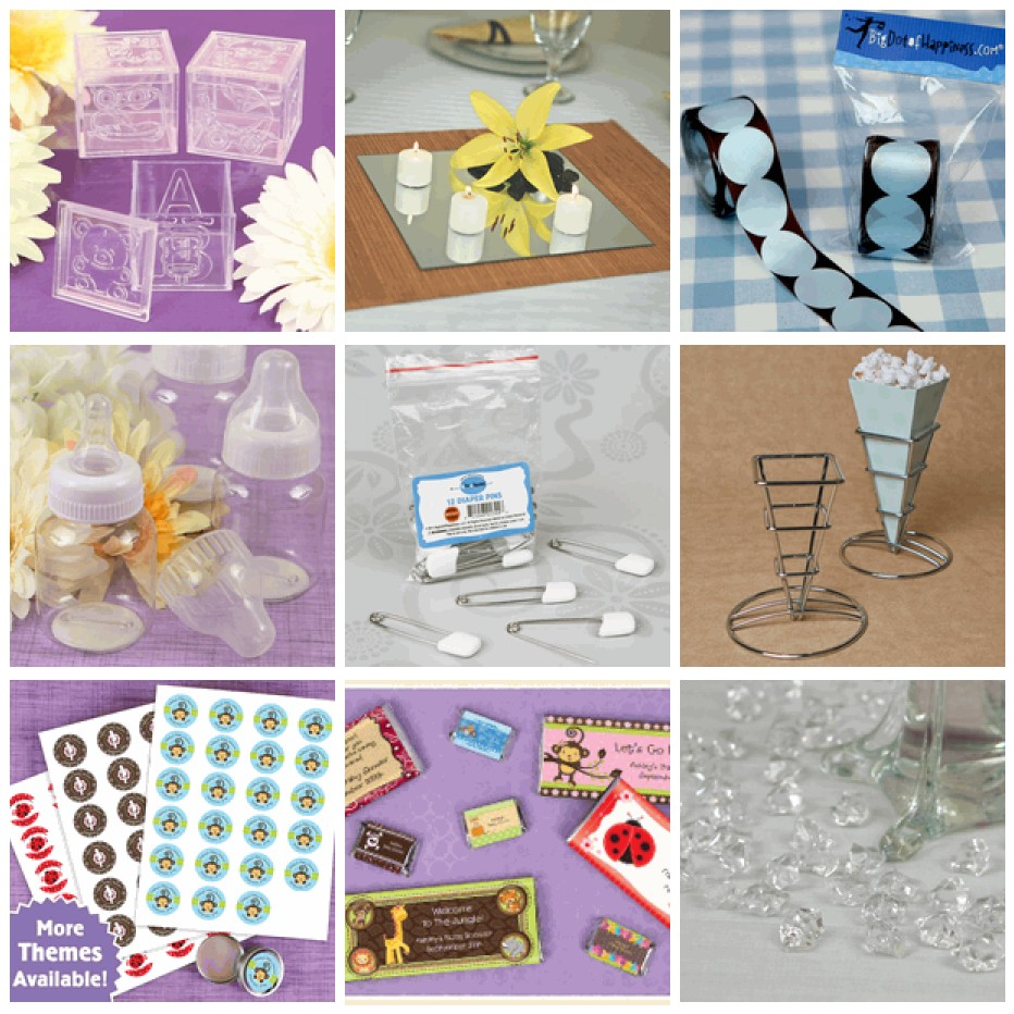 Diy baby shower for Baby shower decoration stores