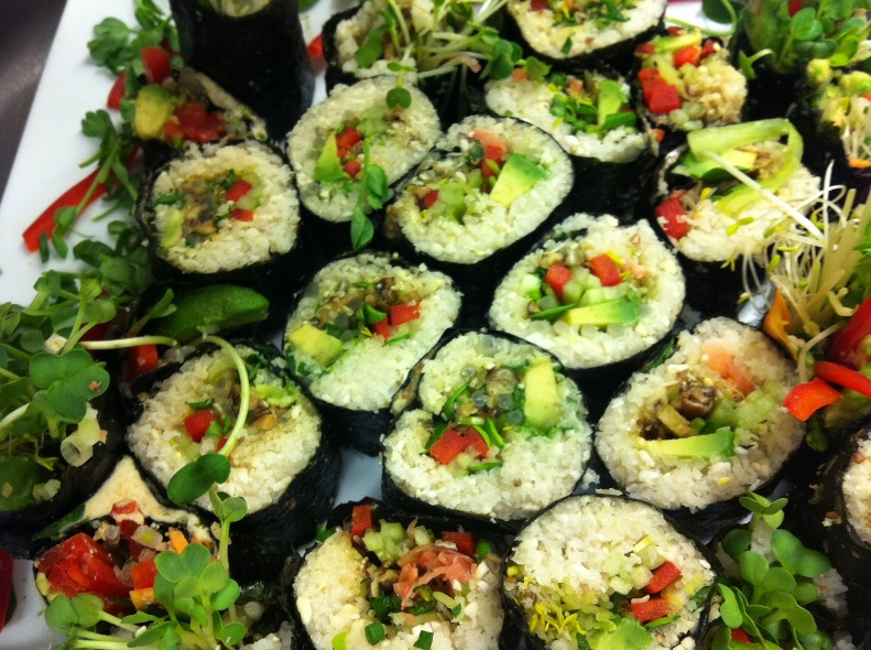 ... us how to make vegetable sushi rolls. The recipe is shown below