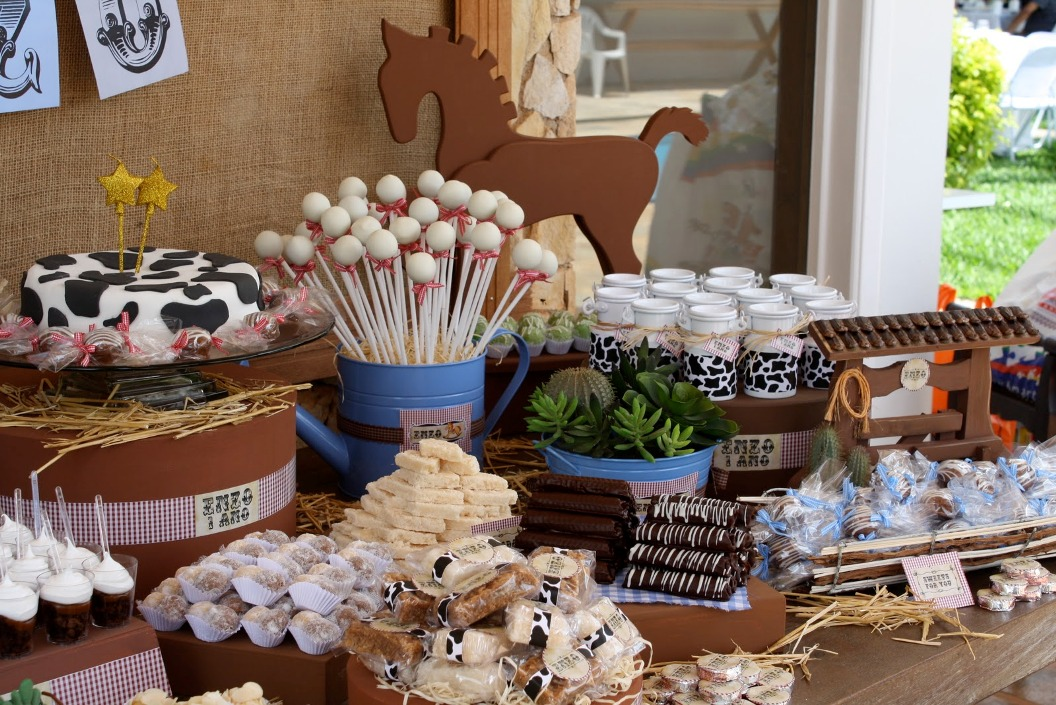 cowboy themed baby shower