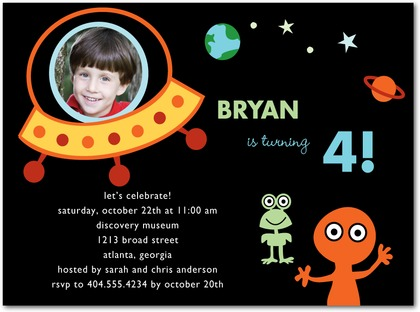 Space Birthday Party Astronaut Outer Space Theme Parties – Space Party Invitations