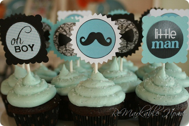 Mustache Baby Shower for your Little Man