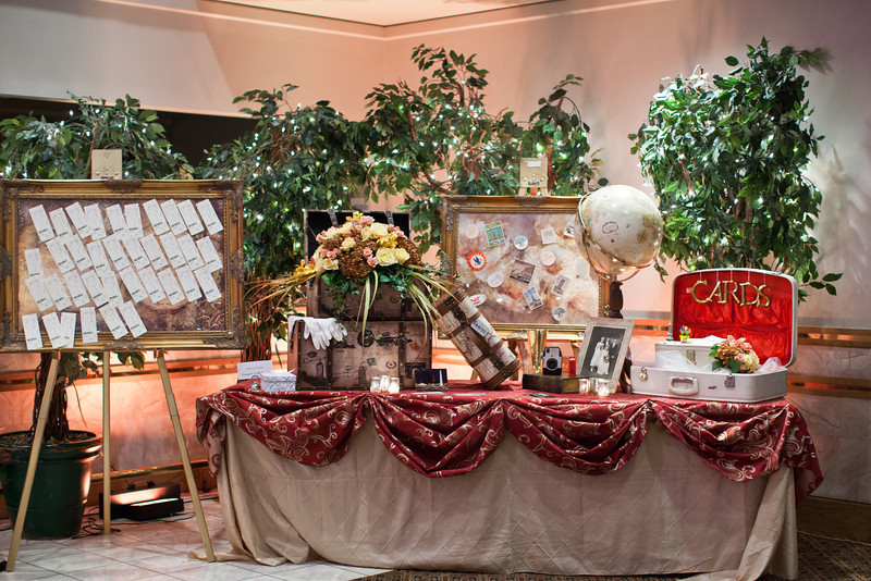 travel theme wedding vintage themed ideas