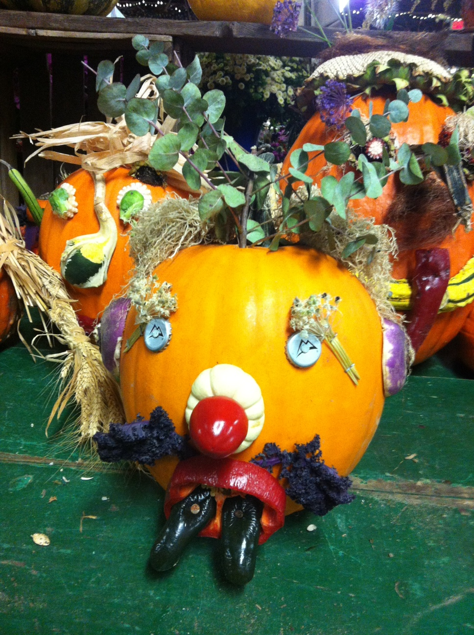 The gallery for creative pumpkin decorating ideas for Different pumpkin designs