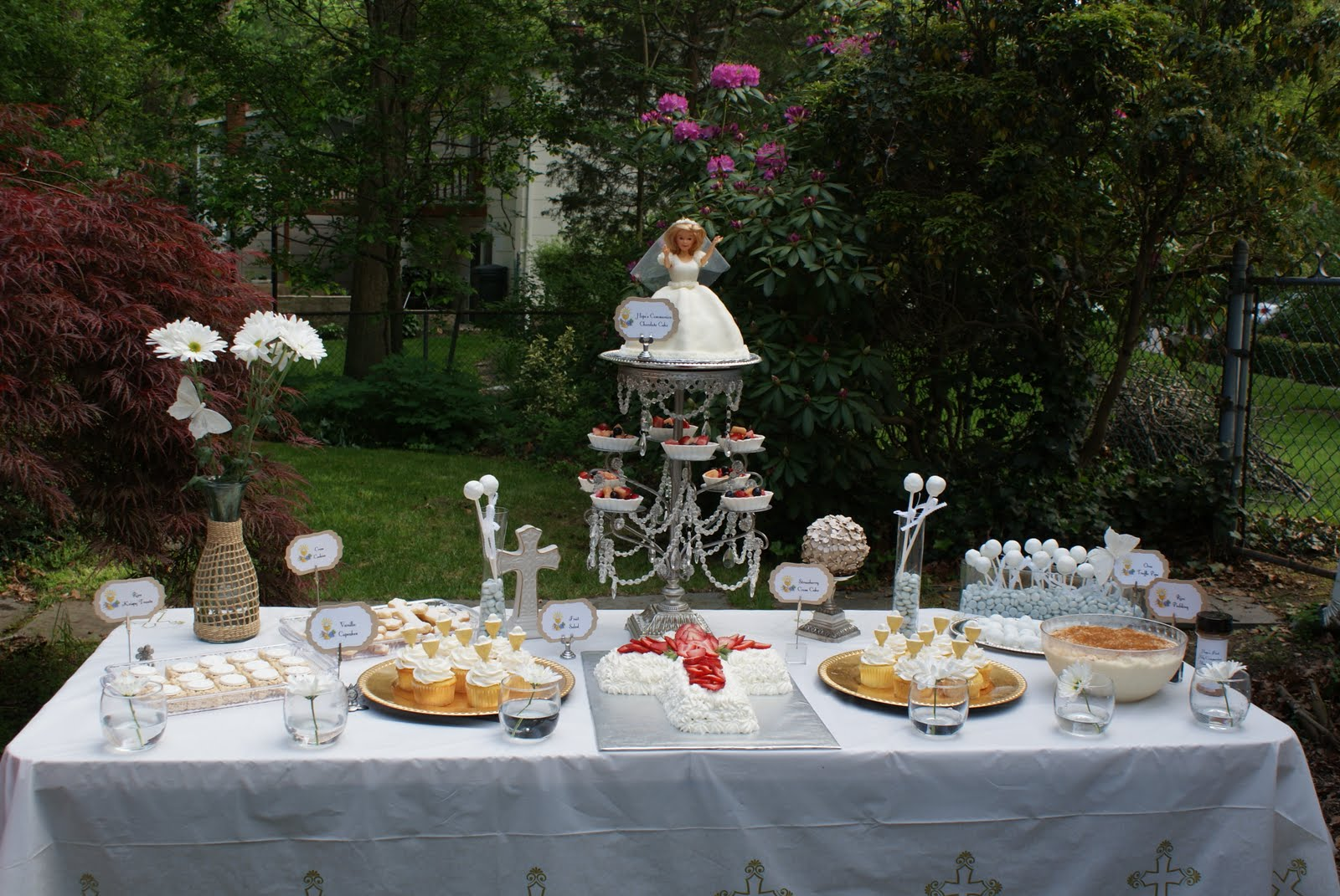 First communion cake table decoration ideas 50691 communio for 1st communion decoration ideas