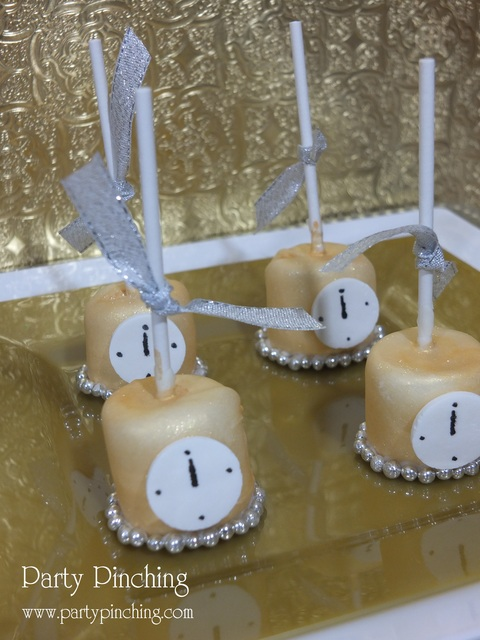 New Years Eve Party, Gold Theme Decorations, Desserts and Supplies