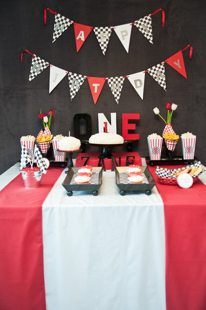 Race Car Kids Party DIY Birthday Ideas and Decorations