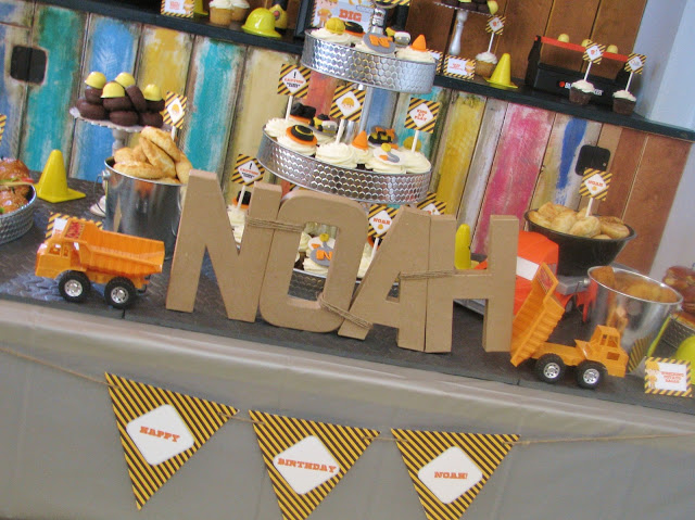 Construction Birthday Party Truck Theme