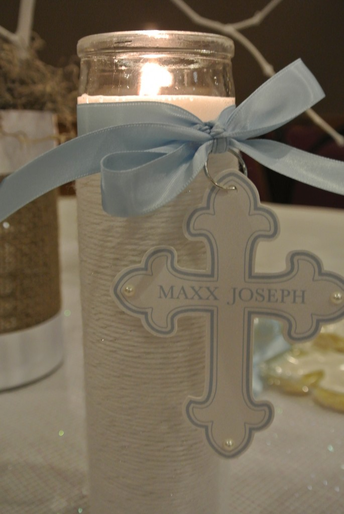 Boy baptism party ideas christening decorations