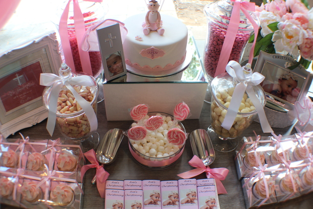 Pink Christening for a Girl