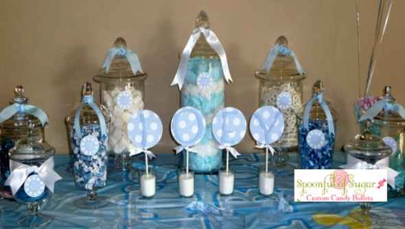 Baby Shower Candy Buffet, Pink or Blue Candy Table
