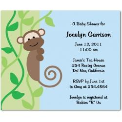 blank monkey baby shower invitations x3cb x3emonkey invitations x3c b