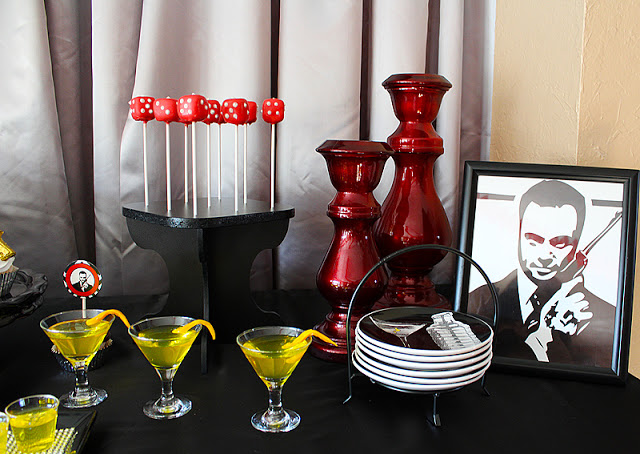 Birthday party ideas for men james bond theme for Decoration 007