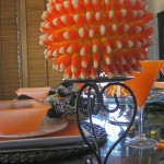 Elegant Halloween Decoration – Candy Corn Spheres