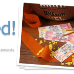 Super Bowl Party Ticket Invitations