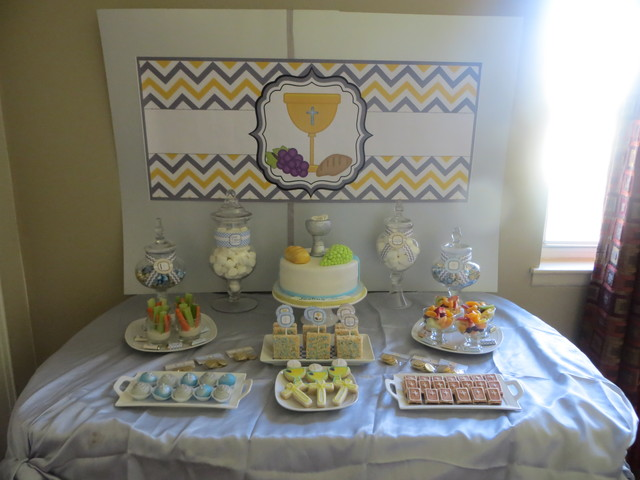 Pin communion party ideas first holy decorations on pinterest for 1st communion decoration ideas