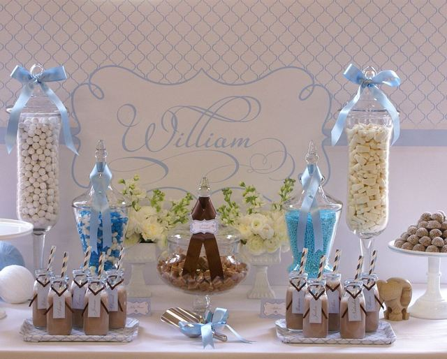Christening party ideas for a boy baby baptism - Decorations for a baptism ...