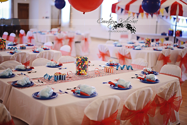 circus themed baby shower carnival party