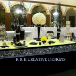 Bling Theme Wedding Table Ideas