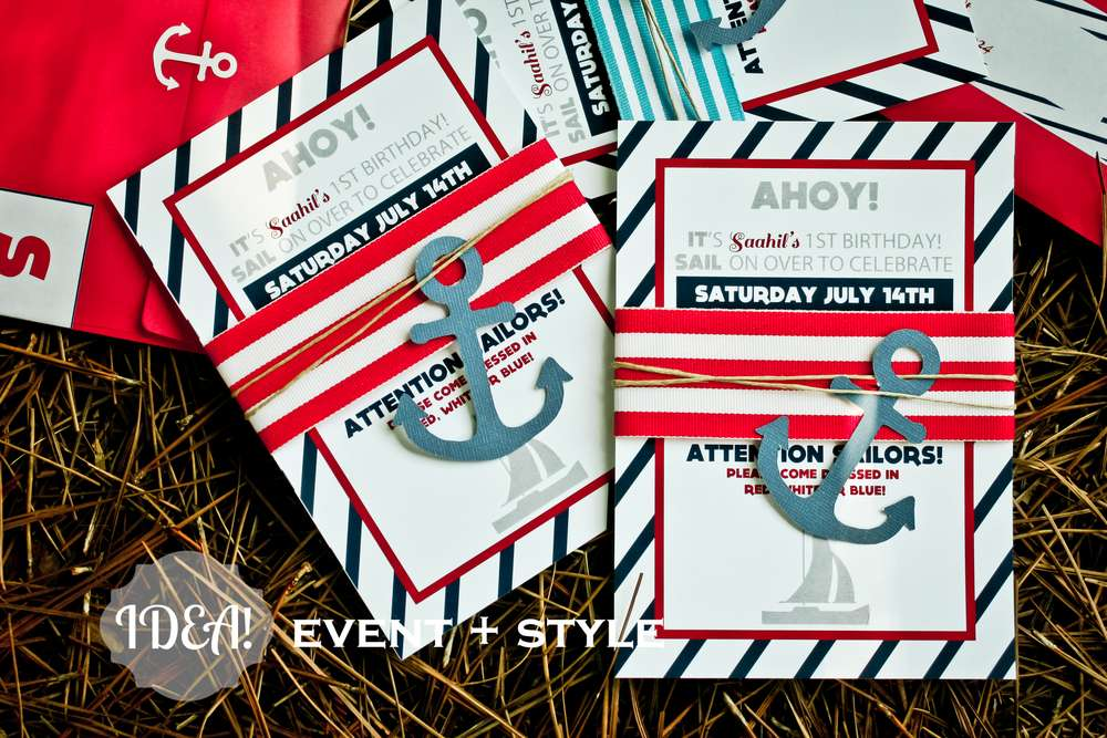 The Party Invitations Are In Classic Nautical