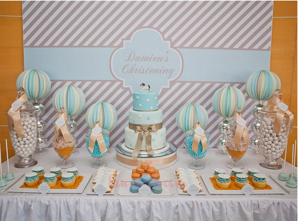 Boy's Christening Ideas for Decorations