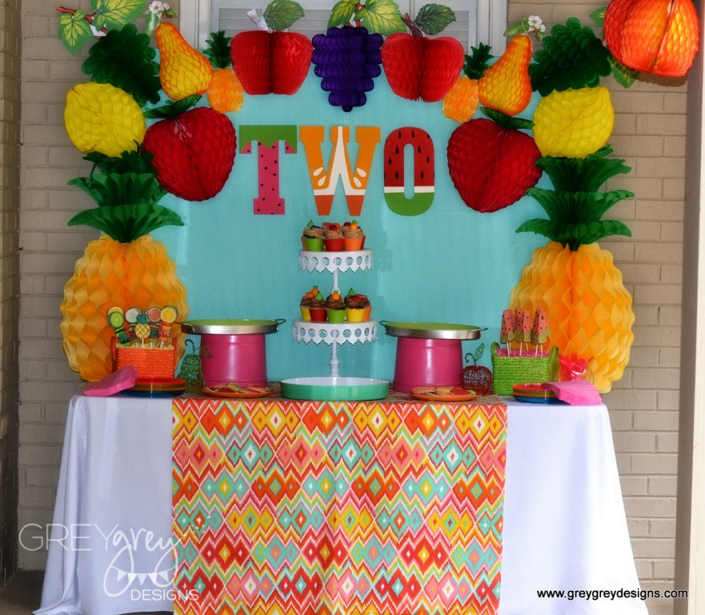 Two Year Old Birthday Party Ideas - Fruit Theme
