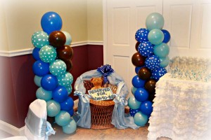 Brown and Blue Baby Shower Decorating Ideas