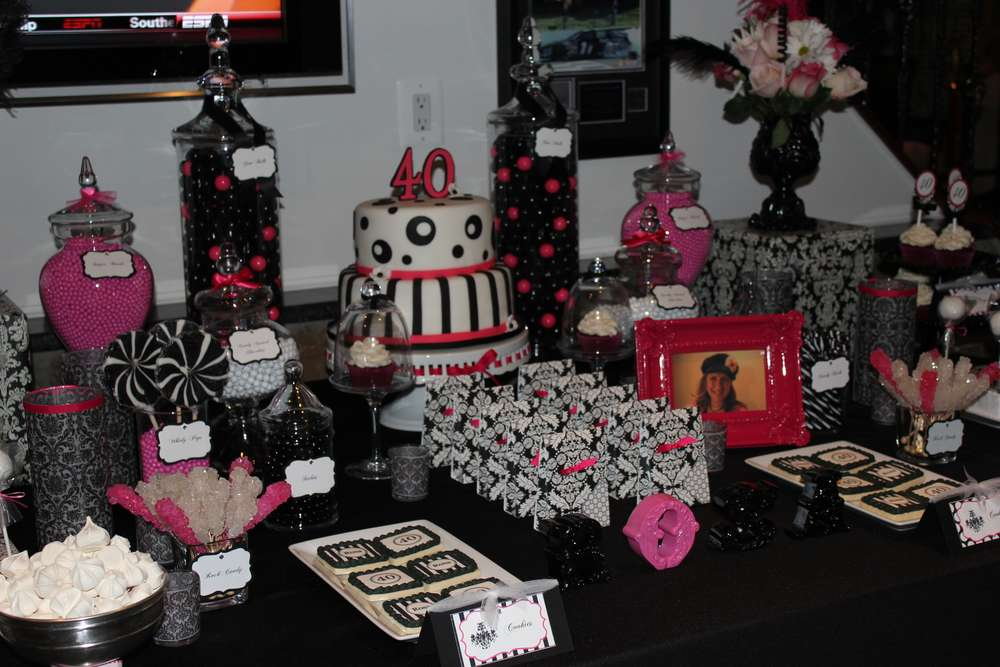Surprise 40th birthday party for 40th anniversary party decoration ideas