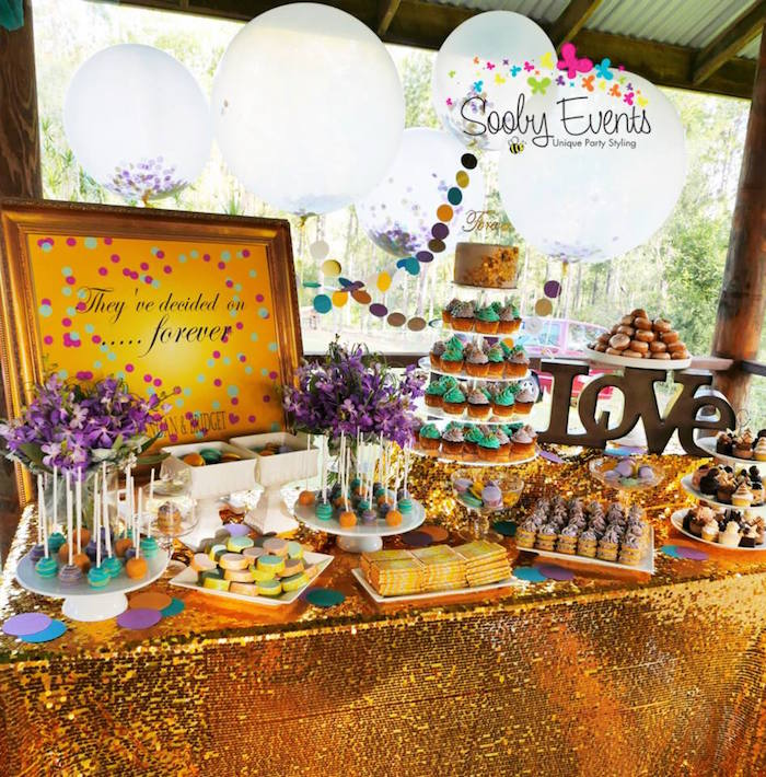 Engagement Party Theme Confetti And Glitter Ideas
