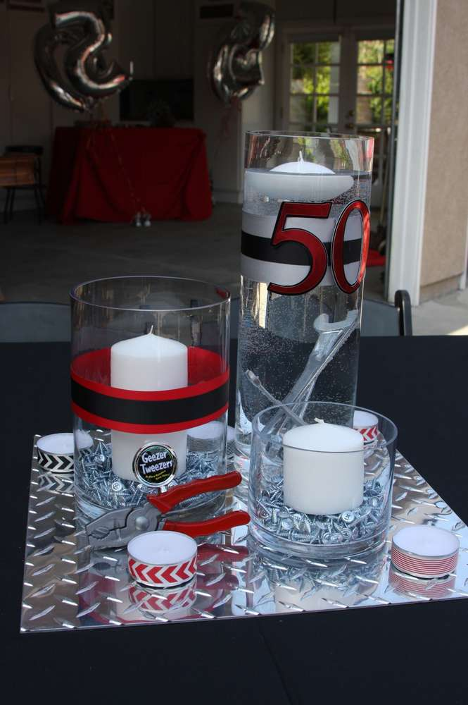 50th Birthday Party Ideas for Men, Tool Theme