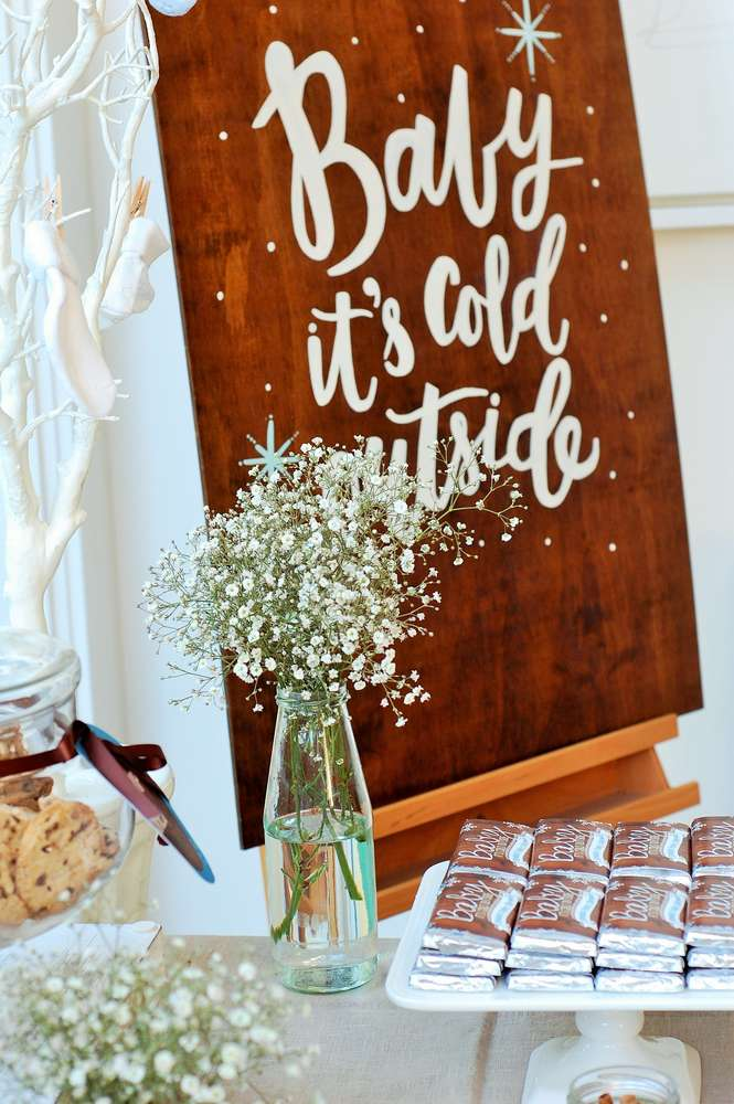 winter themed baby shower wonderland ideas