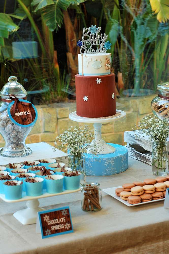 Winter Baby Shower Ideas For Party Planning Moms |Winter Theme Baby Shower