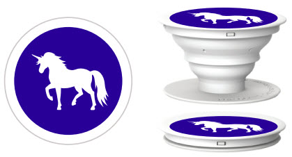 Custom Unicorn PopSockets for phones