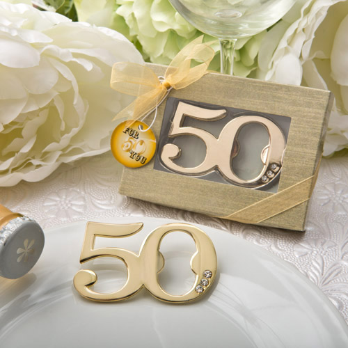 Gold 50th Birthday Favors