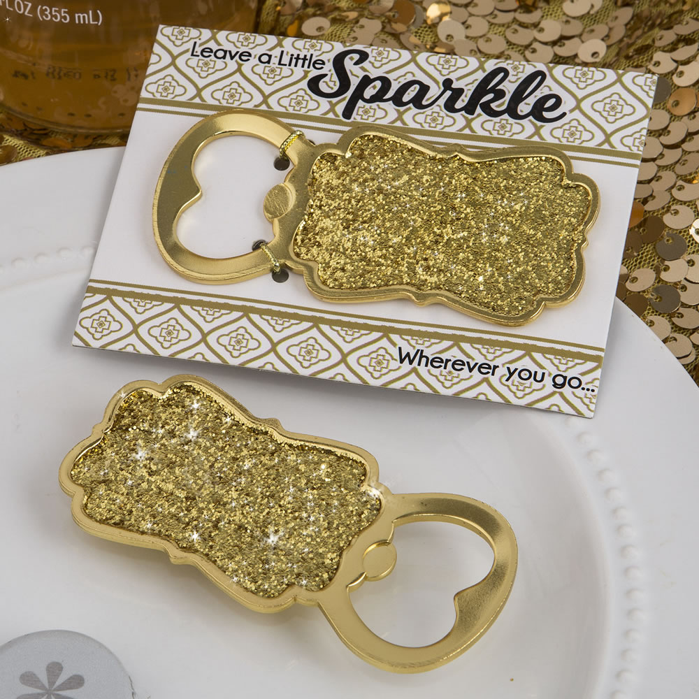 Gold Glitter Bottle Openers