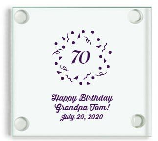 70th Birthday Favor Coasters