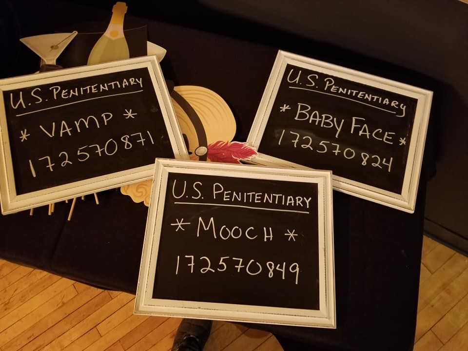 Great Gatsby Photo Booth Signs
