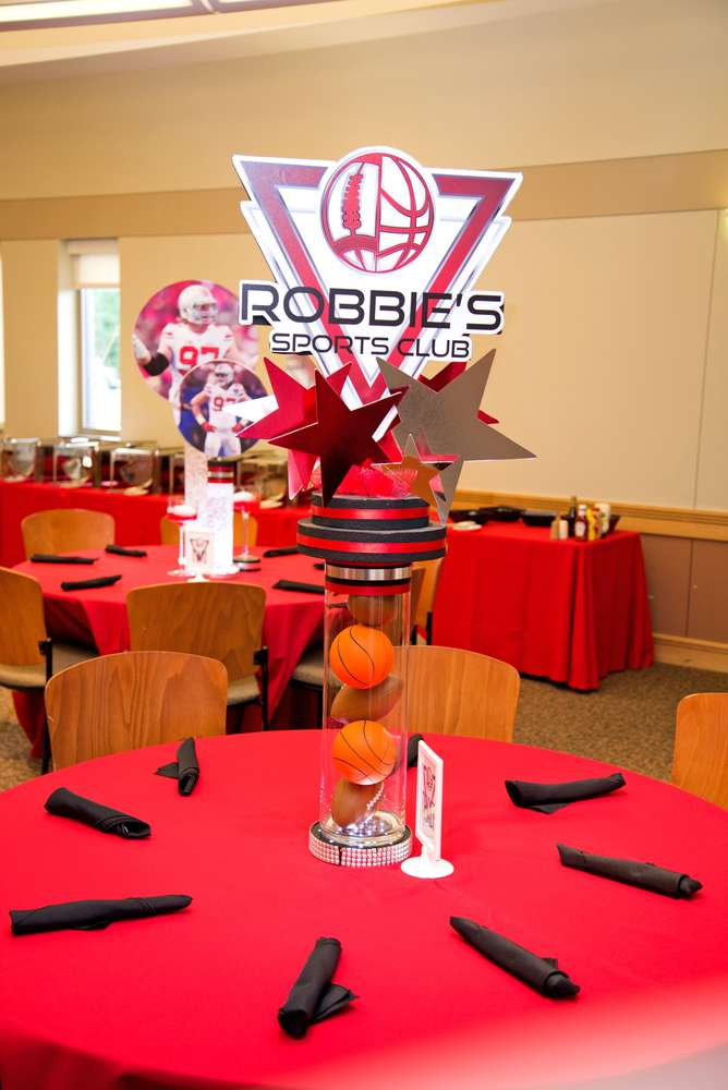 Sports Table Centerpieces