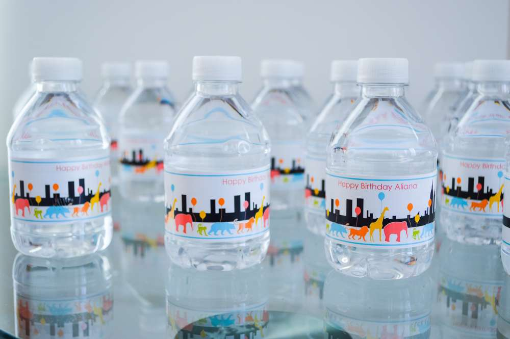 New York Zoo Theme Water Bottles