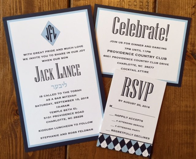 Bar Mitzvah Invitations