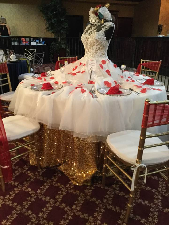 Wedding Dress Table - The Dress Shop Howell