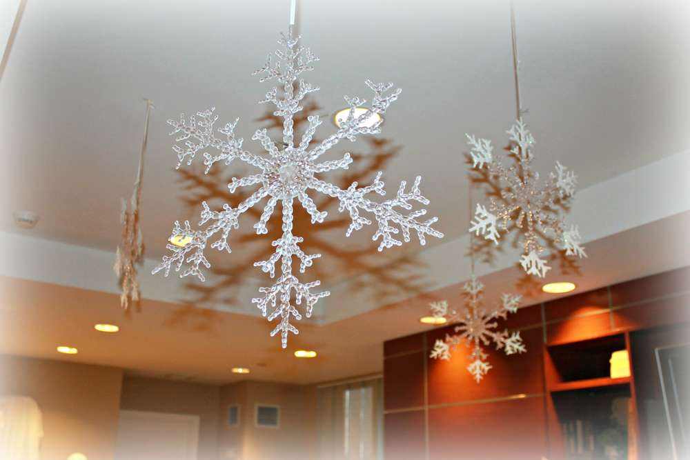 birthday party ceiling decoration ideas - Winter Themed Birthday Party